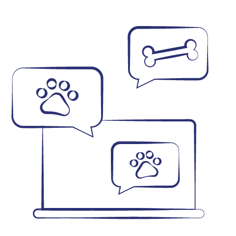 Customer service chat icons for bezzie.